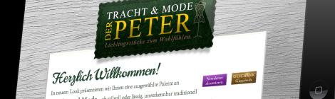 PETER Tracht & Mode Webseite