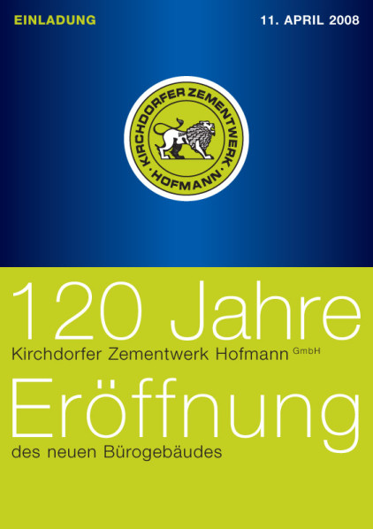 Folder Einladung «Eröffnung neues Büro» Titel KZ