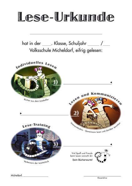 Lese-Urkunde Volksschule Micheldorf